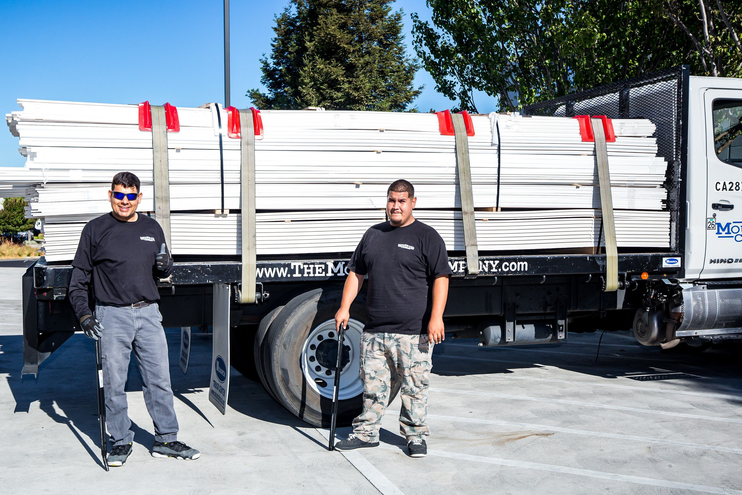 Employees with Delivery Truck