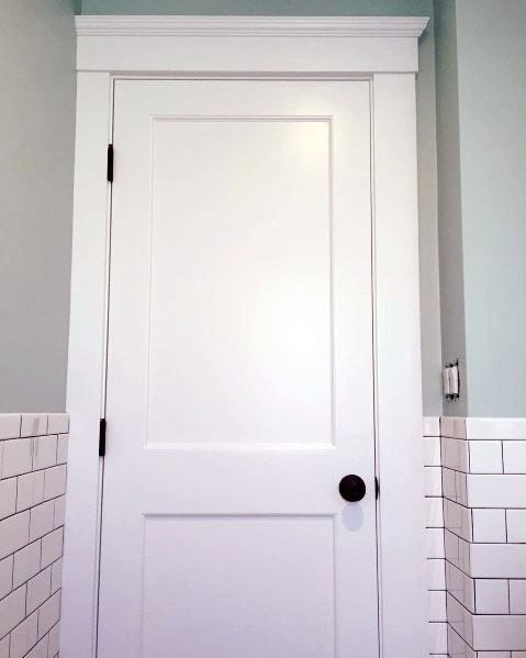 simple white door