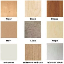 Plywood Color Samples