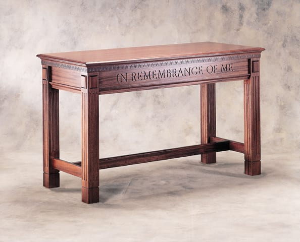 Stained Communion Table