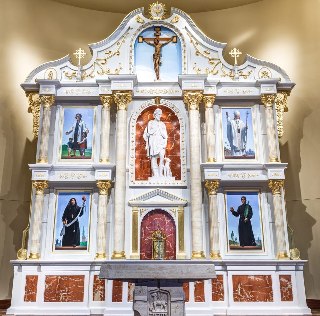 Retablo at St. Rocco Catholic Church