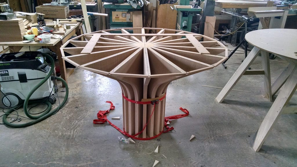 Unfinished wooden Bimah table