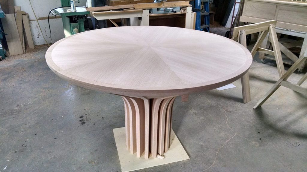 Unfinished wooden Bimah table 2