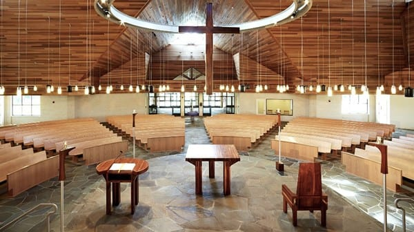 Interior from Behind Sanctuary, Our Lady Star of the Sea Catholic Church, Solomons, MD