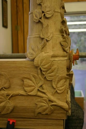 Leaf and Vine Hand Carving