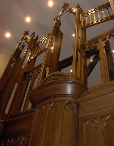 Organ Casework Close up Without Pipes