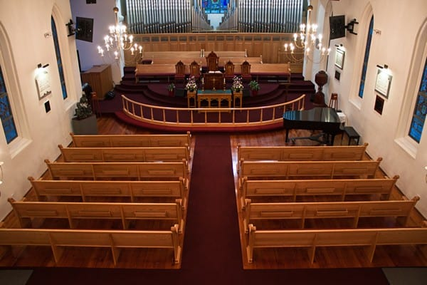 Pews from Rear