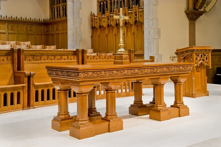 Communion Table with New Base and Reworked Top