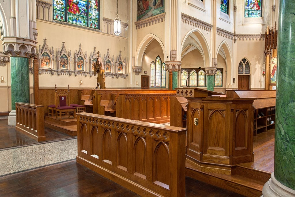 pulpit, woodwork, altar screen