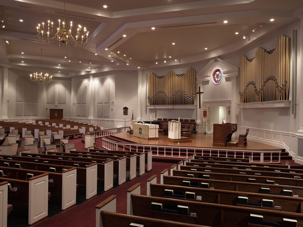 Wide view of nave and sanctuary