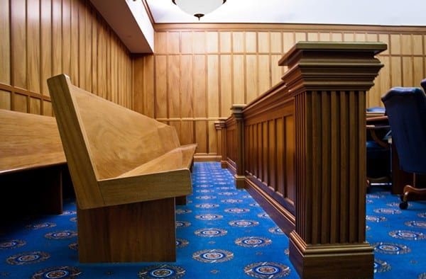 Courtroom Seating bench ends
