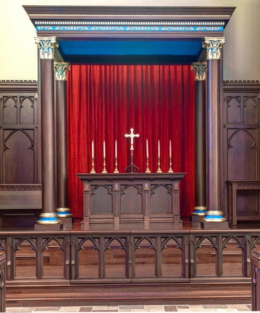 View of altar from the nave