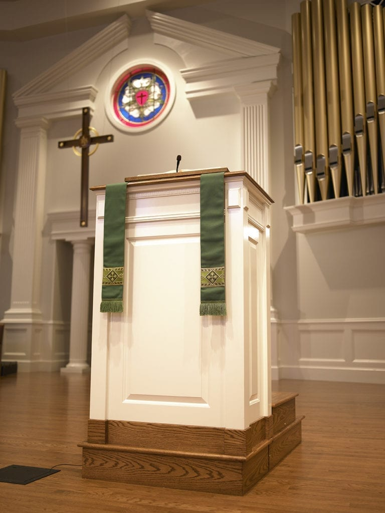 Podium in sanctuary