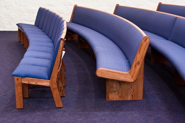endless pews and chairs