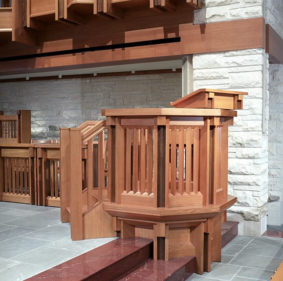 Wooden pulpit