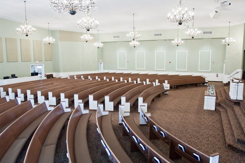 Colonial Curved Pews
