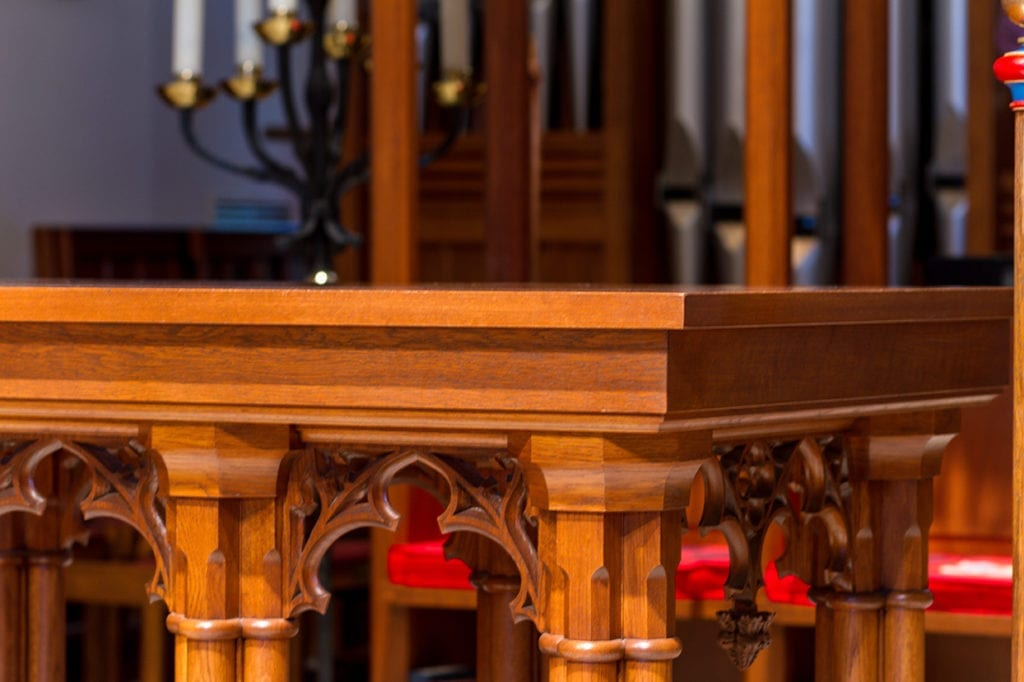 communion table detail