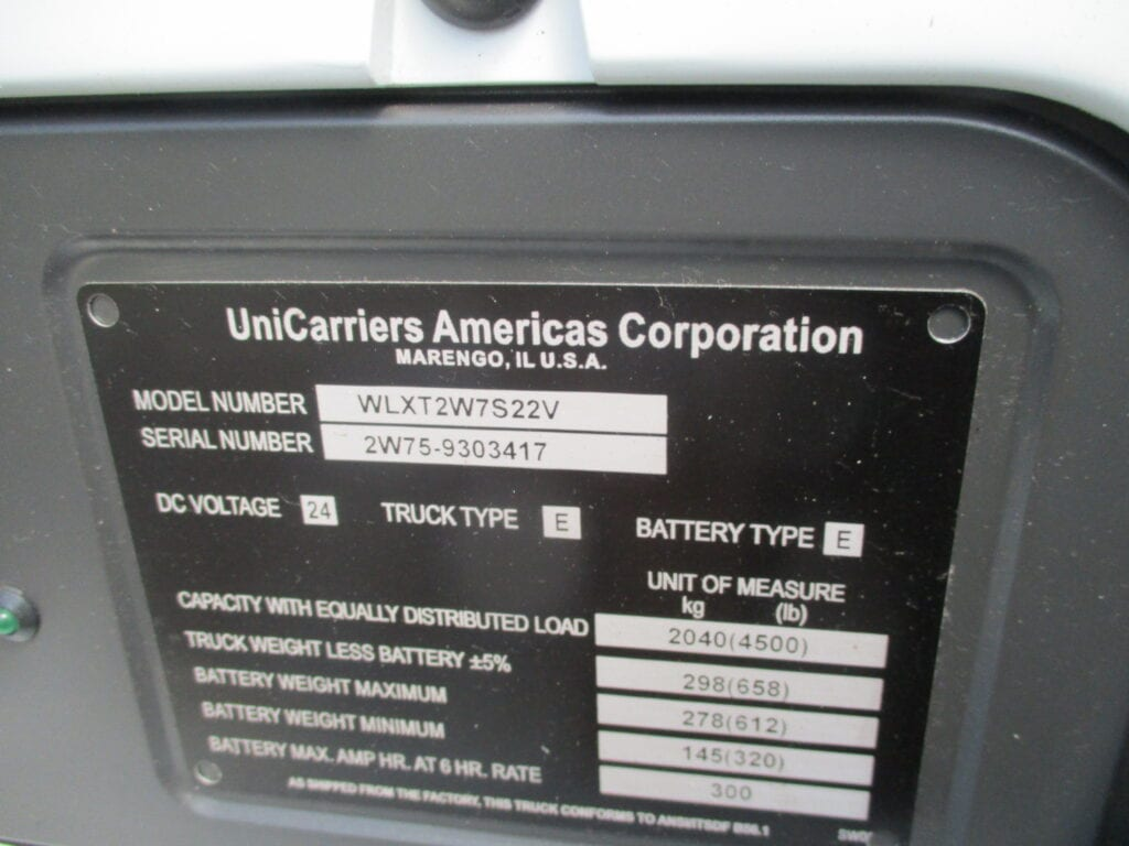 UniCarriers Plate