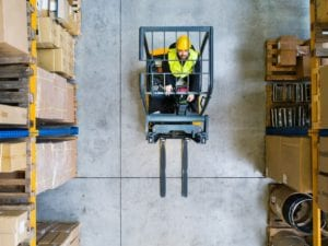 man in forklift