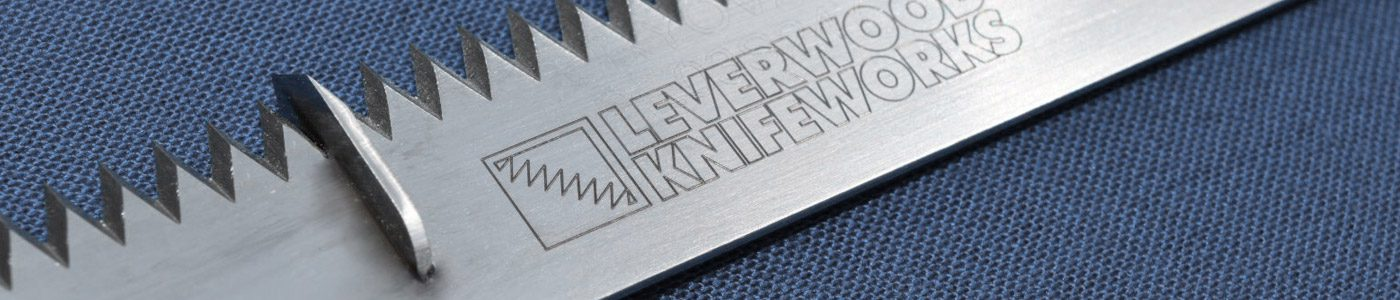 Leverwood Knife Works Logo on Blade