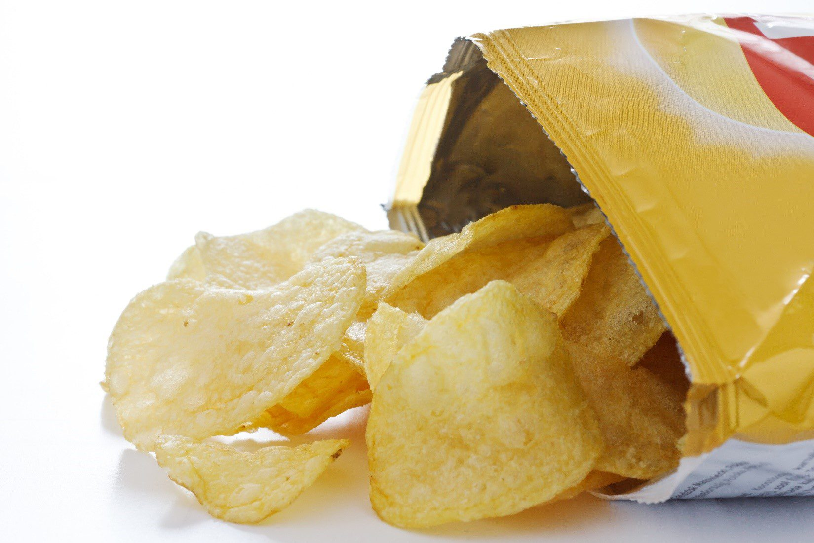 Potato chip bag sealed by VFFS machine