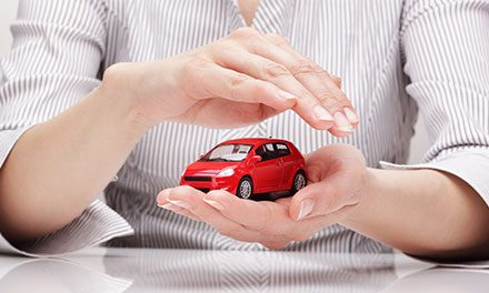 model car in hands