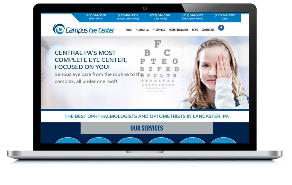 Example of Campus Eye Center Local SEO