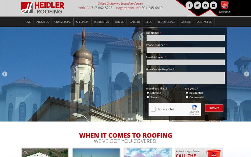 Example of Heidler Roofing
