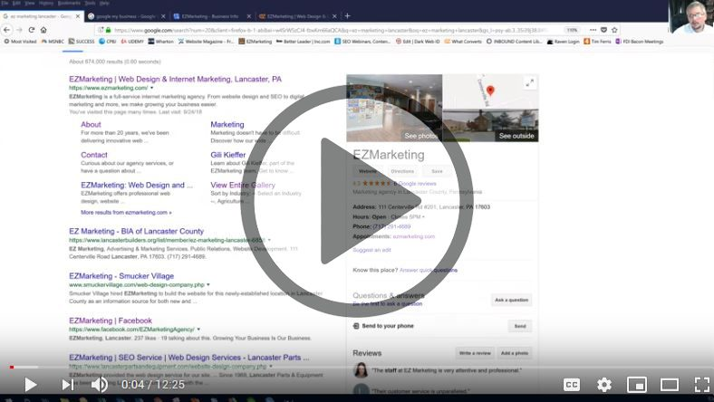 How to Create a 1-page Google My Business website