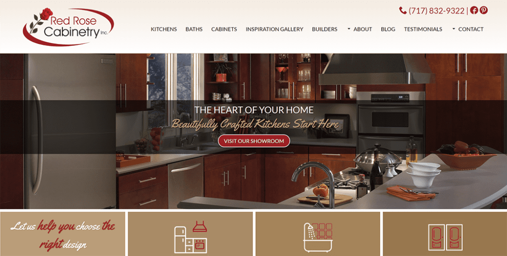 red rose cabinetry screenshot