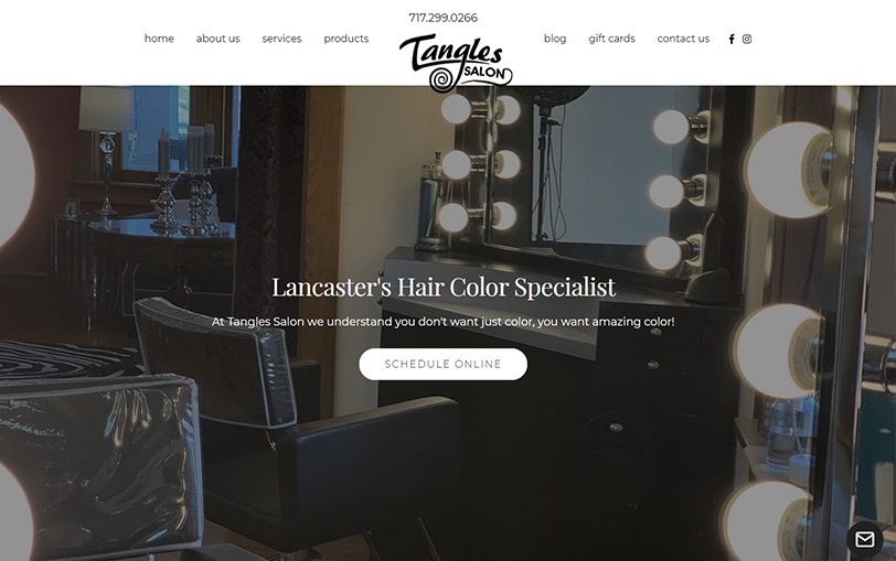 Example of Tangles Salon