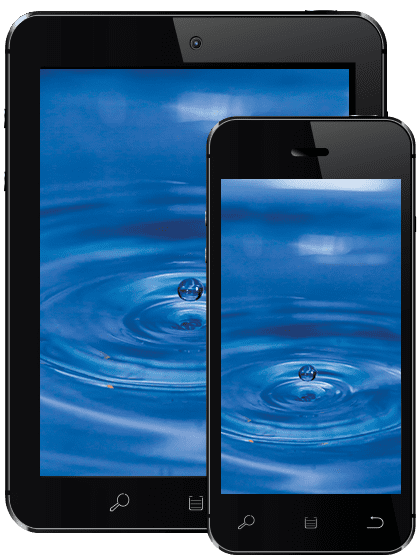 Water visual on mobile devices