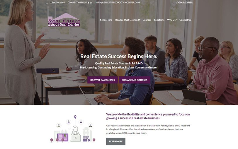 Example of Real Estate Education Center