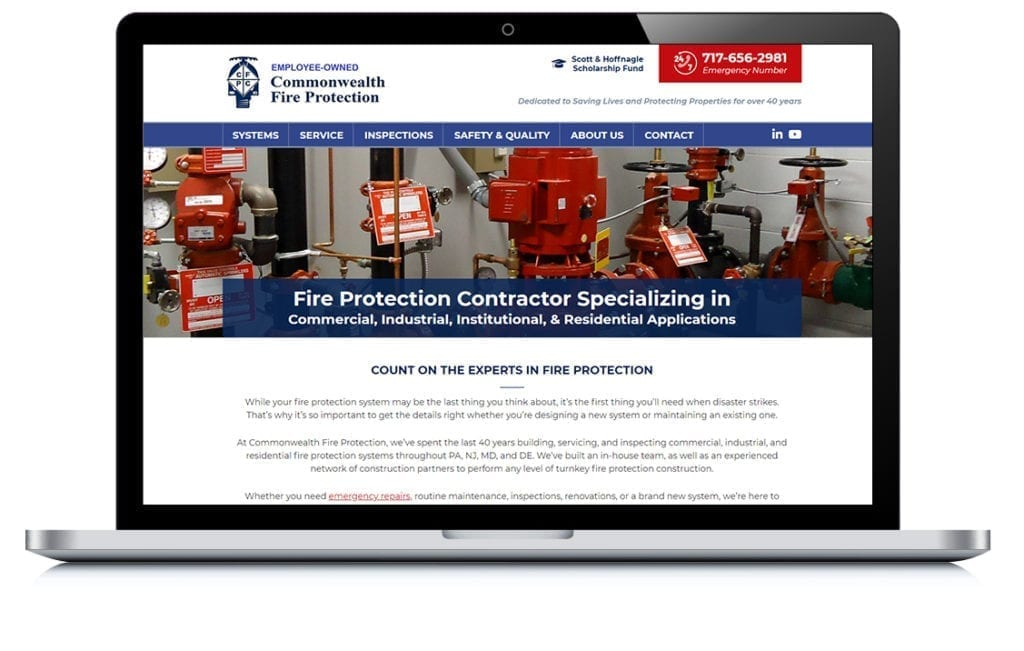 Example of Commonwealth Fire Protection Company