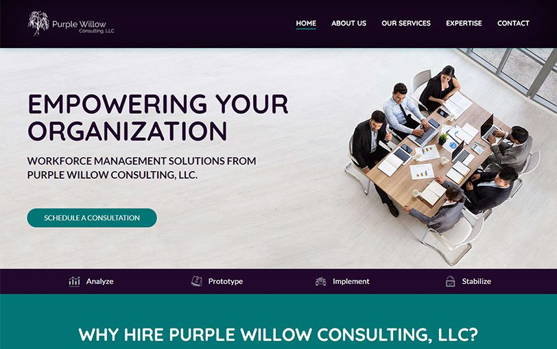 Example of Purple Willow Consulting