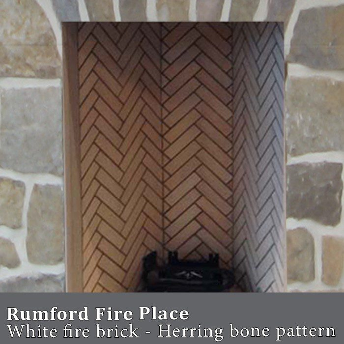 rumford white brick fireplace
