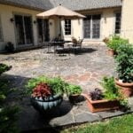 Stone patio renovation in Glenmoore Pennsylvania