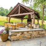Elegant and rustic outdoor living space