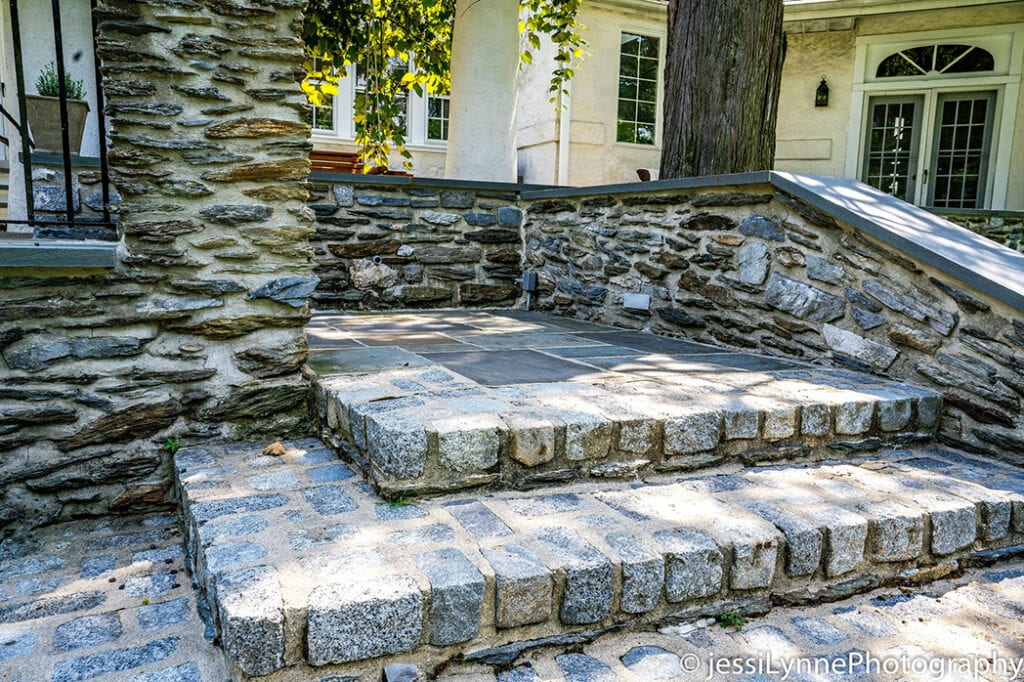 wide stone stairs
