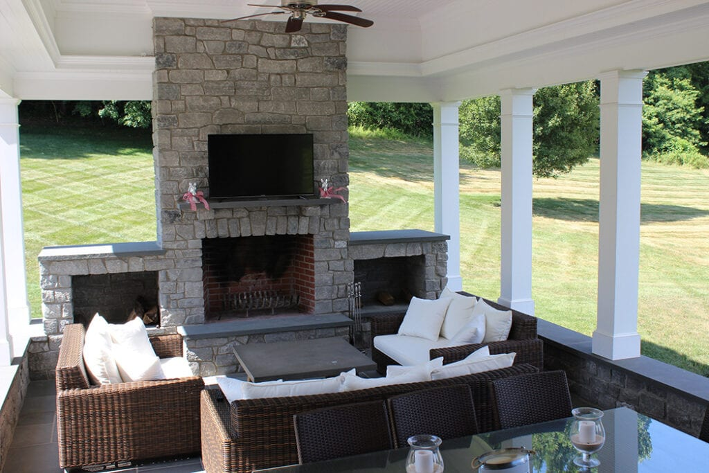 Outside Patio with fireplace