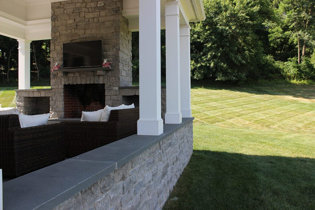 Outside Patio with sitting wall