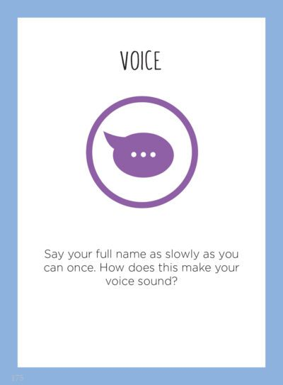 Interoception Activity Card - Voice