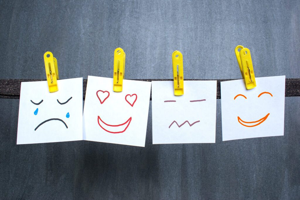 emotions on post-it notes