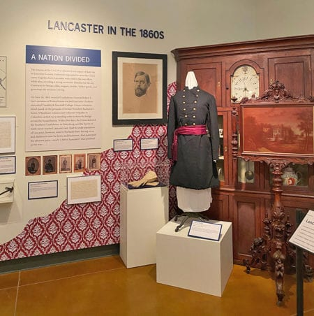 Lancaster in the 1860's display