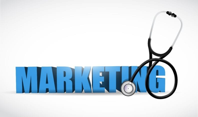 Healthcare marketing concept with stethoscope