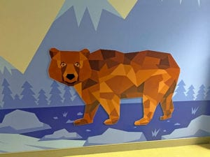 Bear Design on Wall
