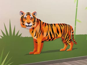 Tiger Design on Wall
