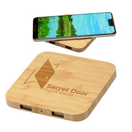 wooden phone charger