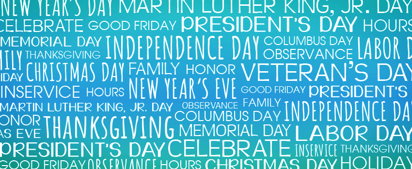 Holiday word cloud
