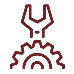 wrench and gear icon